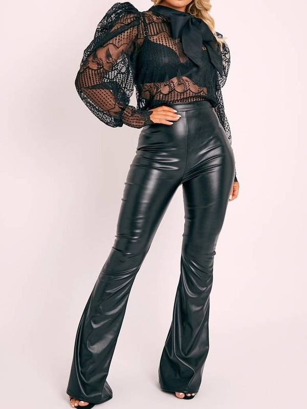 Leather Seam Detail Trouser