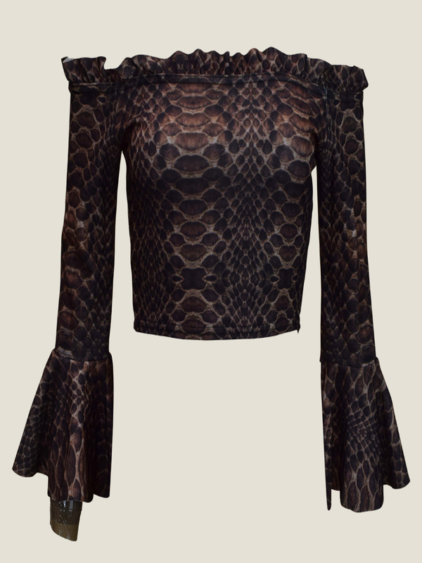 Snake Frill Top Sleeve