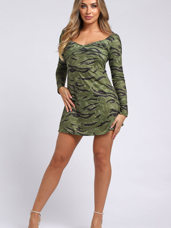 Green Short Dress - Edge Wholesale Clothing