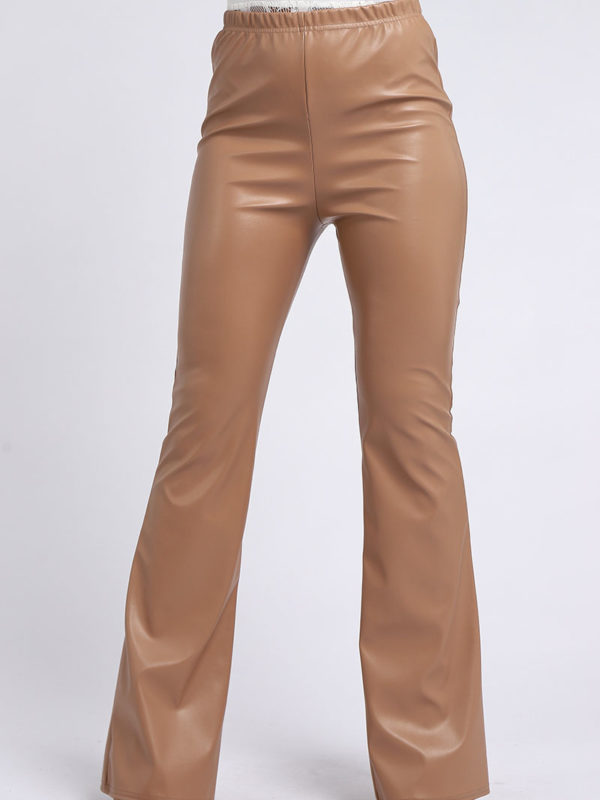 Leather Pu Flared Trouser